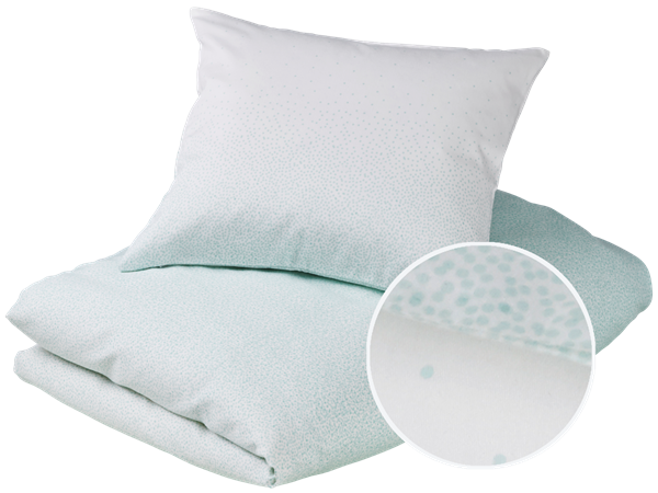 Baby bedding - Snowfall, Mint